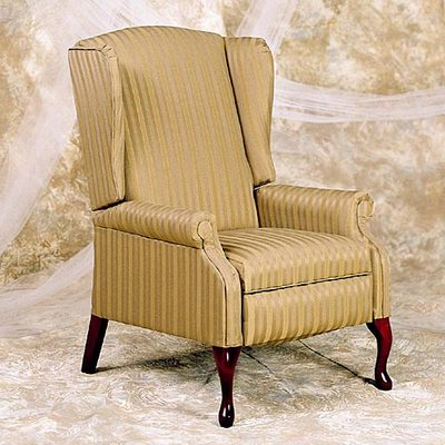 Queen Anne Wingback 2-Pos. Recliner