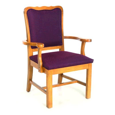 Chippendale Curved Top Arm Chair
