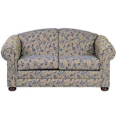 Bun Foot Settee with Loose Cushions
