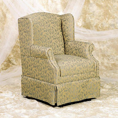 Glider Wingback Rocker with Removable Seat