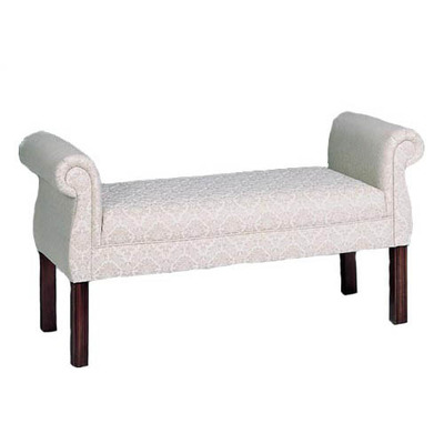 Chippendale Rolled Arm Bench
