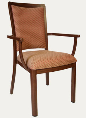 Marqette Wood Grain Aluminum Arm Chair