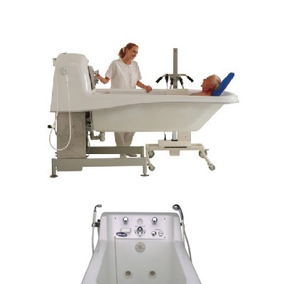 Invacare Model IH6302GADH Pipeless Adjustable Height Supine Bathing Tub